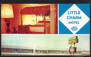Indiana ~ MultiView Little Charm Motel 1 Block North of RUSHVILLE Hwy 3 Chrome