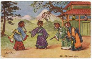 Raphael Tuck Louis Wain Cats Japanese The Introduction Postcard