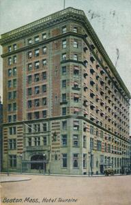 Hotel Touraine - Boston MA, Massachusetts - pm 1908 - DB