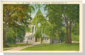 Nice Charlottesville, Virginia/VA Postcard,University Chapel
