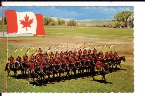 Royal Canadian Mounted Police, RCMP, Musical Ride, Large Flag