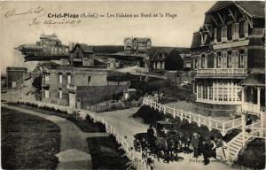 CPA Criel-Plage, Les Falaises au Nord de la Plage (347561)