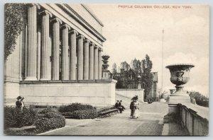 New York City~Columbia College Columns Profile~Victorian Ladies~Lion Urn~1911