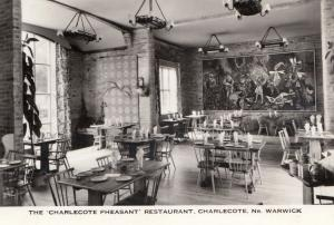 Warwick, Charlecote Pheasant Restaurant Real Photo Postcard