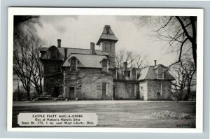 Springfield OH- Ohio, Home of General A S Piatt, Castle Piatt ChromePostcard