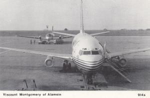 Viscount Montgomery of Alamein Boeing 737 Plane Postcard