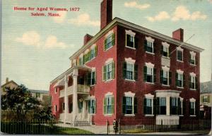 Salem MA~2nd Floor Balcony Porch~Bay Window~Columns~Home for Aged Women~c1910