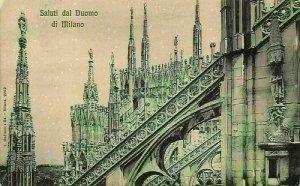 Italy Saluti dal Duomo di Milano Cathedral Postcard