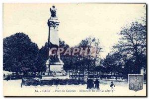 Old Postcard Caen Place Barracks Monument Mobiles 1870 1871
