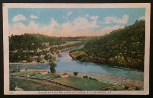 Junction of Dix and Kentucky Rivers, Ky. 1928 Commercial Colortype Co. 70241