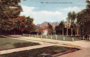 FORT DOUGLAS, UT Utah    OFFICERS QUARTERS   Military   c1910's Postcard