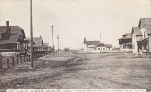 RP: Second Street, North, Looking West from Borden Ave , VERMILION , Alberta ...