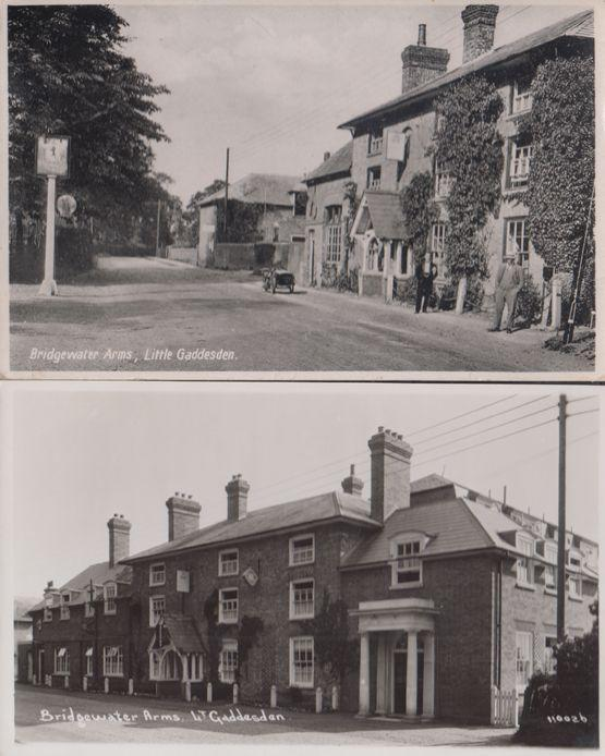 Bridgewater Arms Pub Little Gaddesden Hertfordshire 2x Real Photo Postcard s