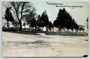 Mount Mt Vernon IA~Cemetery Across the Intersection~Arch Gate~CU Williams~c1910