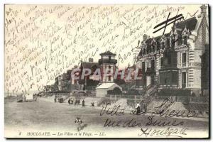 Old Postcard Houlgate Villas and Beach