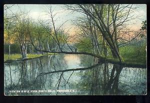 Providence, Rhode Island/RI Postcard, View On 10 Mile River,