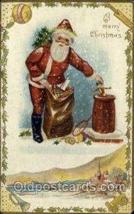 Santa Claus Unused a lot of corner wear, corners are rounded, Unused