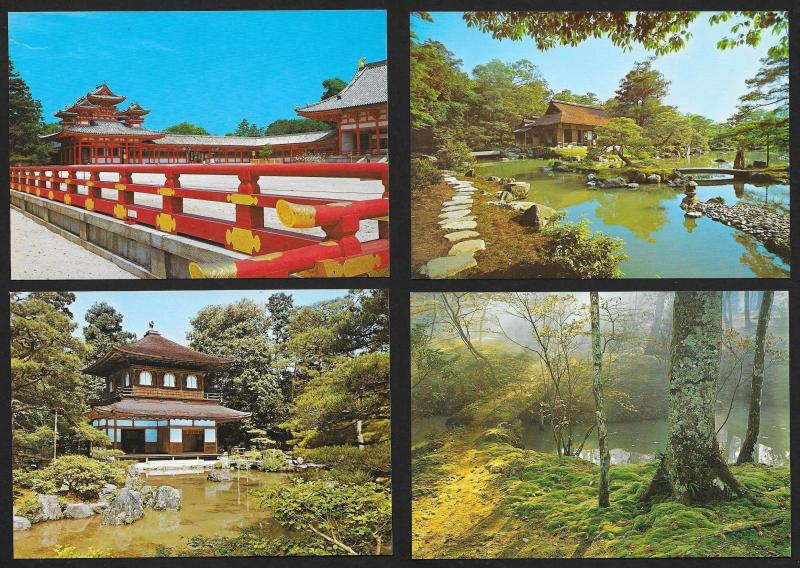 JAPAN (54) view postcards ALL Unused print shop fresh c1960s