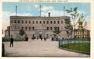 NY - New York City. Aquarium and Battery Park