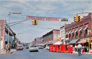 Clinton Indiana~Main Street~Little Italy Festival Banner~Red Train Ride~1960s Pc