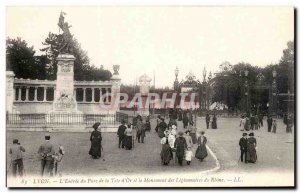 Old Postcard Lyon l & # 39Entree the park Tete d & # 39Or and the Monument to...
