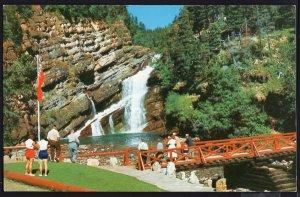 Alberta ~ Tourist Attraction in Waterton Lakes Cameron Falls Chrome 1950s-1970s