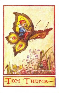 Tom Thumb Butterfly Signed Flora White Postcard