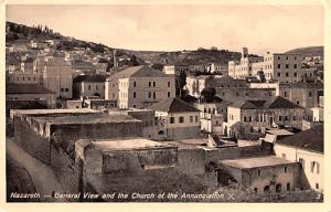 Israel Old Vintage Antique Post Card General View and the Church of the Annun...