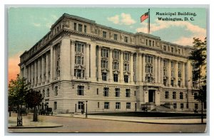 Vintage 1910's Postcard Panoramic View The Municipal Building Washington DC