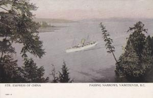 Steamer EMPRESS of CHINA , Passing Narrows , VANCOUVER , B.C. , Canada , 00...