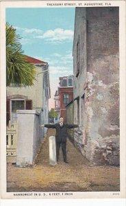 Florida St Augustine Treasurt Street Narrowest Street In U S 1934 Curteich