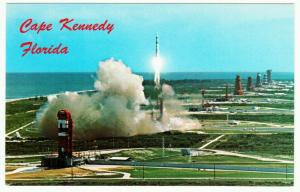 Gemini Titan Rocket or Missile Launch at Cape Kennedy AFS Postcard 1960s