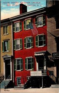 Vtg 1910s House Where Abraham Lincoln Died Washington DC Postcard