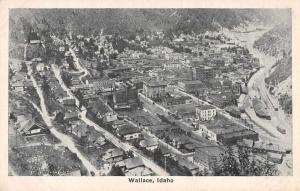Wallace Idaho Birds Eye View Antique Postcard J73620