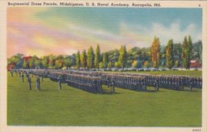 Maryland Annapolis Regimental Dress Parade United States Naval Academy