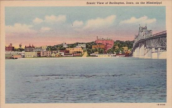 On The Mississippi Scenic View Of Burlington Iowa
