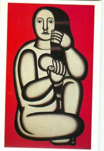 Painting Nude on a Red Background Hirshhorn Museum Fernand Lege Postcard  # 6878