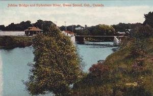 Jubilee Bridge & Sydenham River, Owen Sound, Ontario, Canada, 1900-1910s