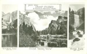 Scenes near Camp Curry, in Yosemite National Park, Real P...