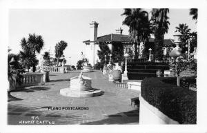CALIFORNIA HEARST CASTLE COURTYARD RPPC REAL PHOTO POSTCARD