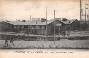 St Nazaire France Premiere Hut Exterior View Antique Postcard J72236
