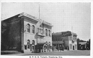 Roseburg OR B. P. O. E. Elks Temple Antlers Theatre Postcard