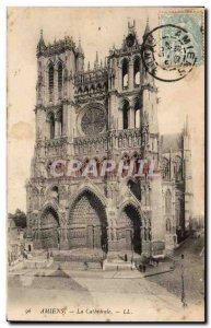 Old Postcard Amiens Cathedrale