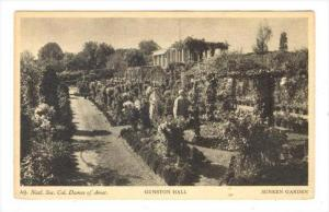 GUNSTON HALL on the Potomac, Mason Neck, Virginia, 1910s   Garden