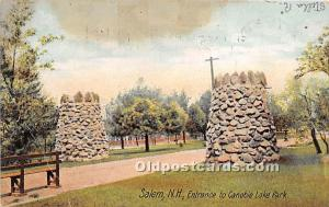 Salem, New Hampshire, NH, USA Postcard Entrance to Canobie Lake Park 1907