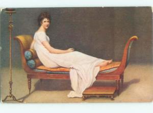 Divided-Back PRETTY WOMAN Risque Interest Postcard AA7837
