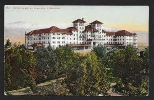 Hotel Raymond High Outside View Pasadena CA Used c1911