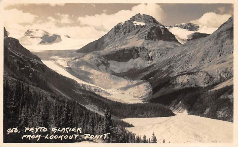 Canada Alberta Banff National Park Peyto Glacier from Lookout Point Mountains