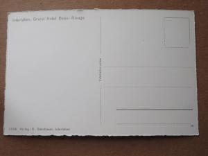 Interlaken, Grand Hotel Beau-Rivage SWITZERLAND Vintage Real Photo Postcard