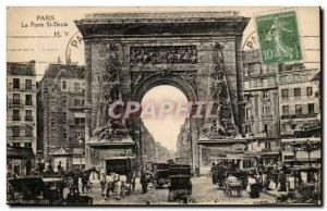 Paris Porte St-Denis Post Card Old